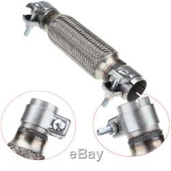 1.75 x 8 45mm x 200mm Exhaust Flexible Flexi Flex Joint Pipe Repair With Clamps