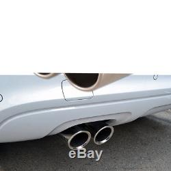 17cm Durable Dual Exhaust Pipe Tail Muffler Tip Stainless Steel for SUV Car Rear