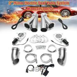 3 Electric Exhaust Valve Catback Downpipe Cutout Systems Switch Manual Control