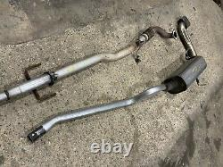 Astra H MK5 3 Dr 1.6 / 1.8 Petrol Cat Back Exhaust System Centre Exit Vxr Look