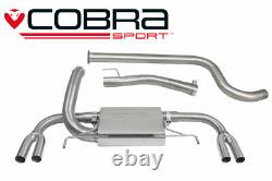 Cobra 3 Non-Res Cat Back Exhaust for Vauxhall Astra J VXR (12-19)