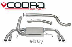 Cobra 3 Resonated Cat Back Exhaust for Vauxhall Astra J VXR (12-19)