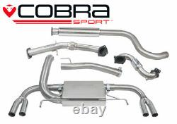 Cobra 3 Resonated Turbo Back Exhaust Sports Cat for Vauxhall Astra J VXR 12-19