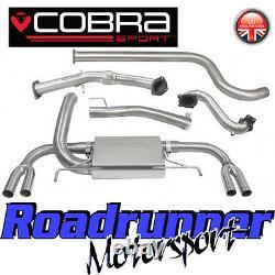 Cobra Astra VXR J MK6 Exhaust System 3 Inc De Cat Downpipe Non Resonated VX25d