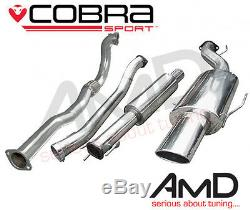 Cobra Sport Astra G GSi Turbo 3.0 Resonated Turbo Back Exhaust with decat