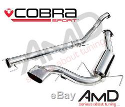 Cobra Sport Astra VXR Cat Back Exhaust System Non Resonated 2.5 VX71 MK5 05-10