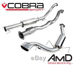 Cobra Sport Astra VXR H Resonated 3.0 Turbo Back Exhaust With Sports Cat