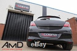 Cobra Sport Vauxhall Astra H SRi Stainless Steel Cat Back Exhaust Non Resonated
