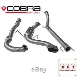 Cobra Sport Vauxhall Astra H VXR Non Res Turbo Back Exhaust with Sports Cat 3