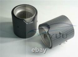 Exhaust Tip 4pcs Matte Real Carbon Fiber 73MM in 93MM OUT for BMW M Series Short