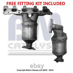 Fit with VAUXHALL ASTRA Catalytic Converter Exhaust 91500H 1.6L Fitting Kit Inc