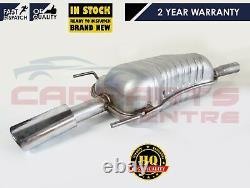 For Vauxhall Astra H Mk5 1.6 1.8 Rear Exhaust Box Silencer Inc Chrome Trim 06-11