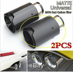 Full Matte Black Car 100% Carbon Fiber Exhaust End Tips for BMW 2.5 in 3.5 out