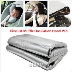 HOT Car Turbo Exhaust Muffler Insulation Heat Shield Mat 100cm x 140cm x 0.5cm
