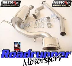 Milltek Exhaust Astra VXR H Cat Back System Stainless Non-Resonated 05-10 NEW