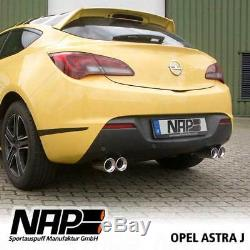 Nap Sport Exhaust VAUXHALL ASTRA J GTC Stainless Steel Duplex