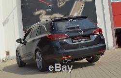 Nil 2.99in Duplex Sport Exhaust System Vauxhall Astra K SPORTS Tourer 1.4l Turbo