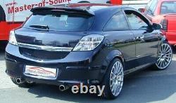 Nil Duplex Sport Exhaust Vauxhall Astra H GTC from Yr 2005 1.6l Turbo 2.0l Turbo