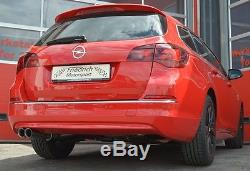Nil Sport Exhaust VAUXHALL ASTRA J Tourer from Yr 2010 1.3L 1.6L 1.7L 2.0L CDTi