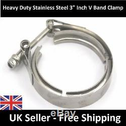PREMIUM Vauxhall Astra VXR Upgraded 3 Exhaust V-Band Clamp Stainless Steel