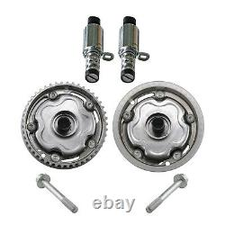 Pair Intake & Exhaust Camshaft Adjusters + 2 Solenoid Valve for Vauxhall Astra