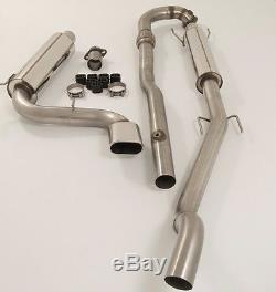 Piper Exhausts Vauxhall Astra H VXR Turbo Back Exhaust (De-Cat/0 Silencers)