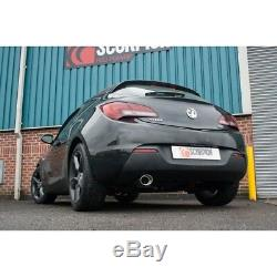 Scorpion Exhaust Astra J GTC 1.4T Secondary Cat Back Resonated Oval Tail SVX034