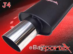 Sportex Vauxhall Astra mk4 performance exhaust back box Turbo coupe 2000-2004