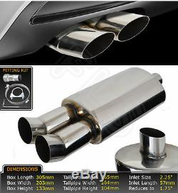 Universal Performance Free Flow Stainless Steel Exhaust Backbox Lmo-003 Vxl2