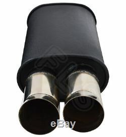 Universal Performance Full Flow Stainless Steel Exhaust Backbox Lmc-006-vxl1