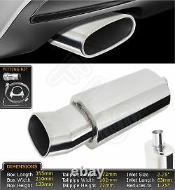 Universal Performance Stainless Steel Exhaust Backbox Lms-003-vxh1