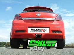 VAUXHALL ASTRA MK5 H VXR MILLTEK Sport Non-Res Cat Back Exhaust Special Tip