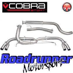 VX28 Cobra Sport Astra VXR J MK6 Exhaust System VENOM 3 Stainless Cat Back LOUD