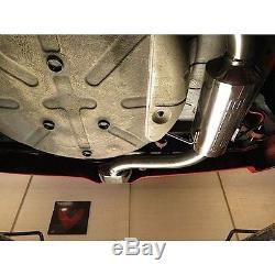 VX72 Cobra Sport Vauxhall Astra H VXR 05-11 Cat Back Exhaust 2.5 bore Resonated