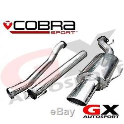 VX73 Cobra Sport Vauxhall Astra H SRI 2.0T 04-10 Cat Back Exhaust Non Resonated