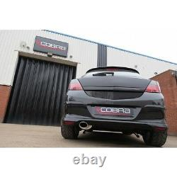 VX74 Cobra Astra SRI MK5 Turbo Exhaust System 2.5 Cat Back Resonated Quieter