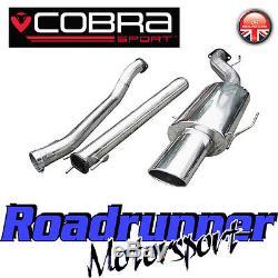 VX75 Cobra Sport Astra MK5 1.4 1.6 1.8 Exhaust System 2.5 Non Resonated Hatch