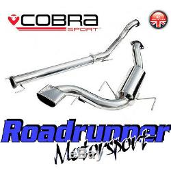 VZ08h Cobra Astra VXR H MK5 Exhaust 3 Stainless Cat Back Non Res TP32 TailPipe