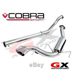 VZ08h Cobra Sport Vauxhall Astra H VXR 3 Cat Back Exhaust System Non Resonated