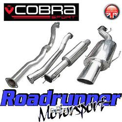 VZ10c Cobra Astra Coupe 2.0 MK4 3 Turbo Back Exhaust System Resonated & De Cat