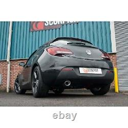 Vauxhall Astra GTC 1.4T Scorpion 2.5 Resonated Cat Back Exhaust with Evo Trim