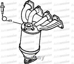 Vauxhall Astra H 1.6 Z16Xep Hatchback 05-06 Exhaust Maniverter Manifold