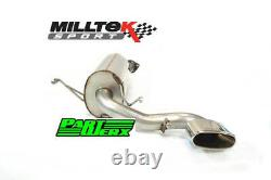 Vauxhall Astra H MK5 VXR Milltek Rear Exhaust Silencer Back Box with Special Tip