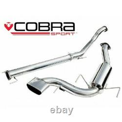 Vauxhall Astra H VXR Non-Resonated Cat Back Cobra Sport Exhaust VZ08h