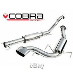 Vauxhall Astra H VXR Resonated Cat Back Cobra Sport Exhaust VX72