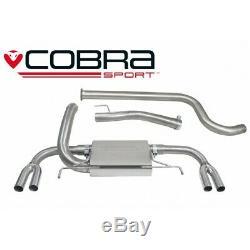 Vauxhall Astra J VXR Non-Resonated Cat Back Cobra Sport Exhaust VX23