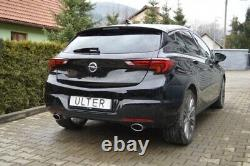 Vauxhall Astra K 1.6T Exhaust With Double Outlet 120x80mm Approved Delivery 7gg