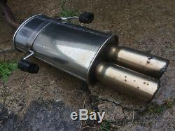 Vauxhall astra g mk4 stainless steel cat back exhaust system coupe convertible